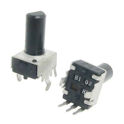2x 10K ohm 6mm Insulated Shaft Rotary Potentiometers R0903N