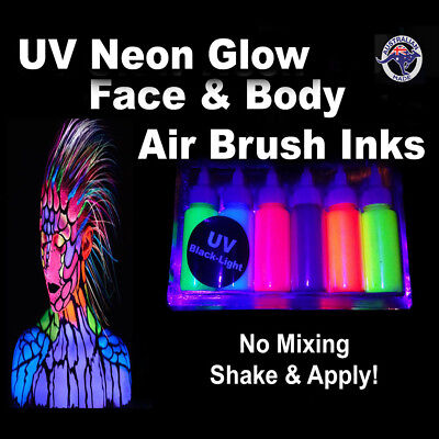 Airbrush Uv Glow Neon Face & Body Paint Airbrushing Ink Face Paint Airbrush Inks