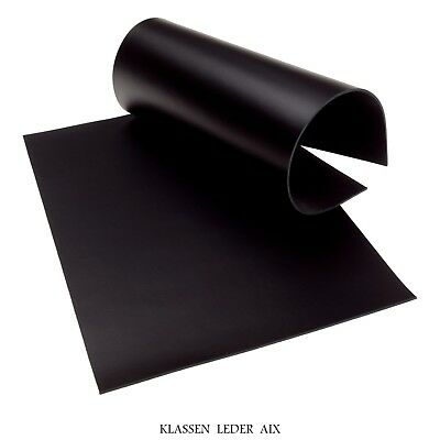 Büffelleder Schwarz 2,5 mm Dick A4 Format Rindleder LARP Black Leather 172