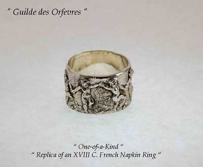 Sterling Napkin Ring, after an Antiques French XVIII Century