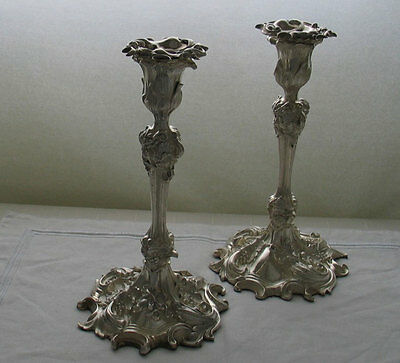 Sterling Silver Candlesticks, Scroll and Vine Motifs