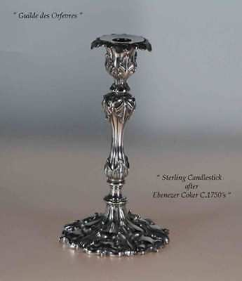 Sterling Silver Candlesticks,  after Ebenezer Coker