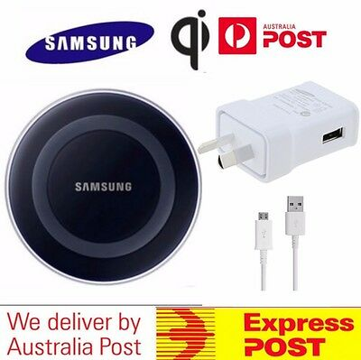 Genuine Samsung Wireless Qi Charger Charging Pad STANDARD Galaxy S6 S7 S8 edge+
