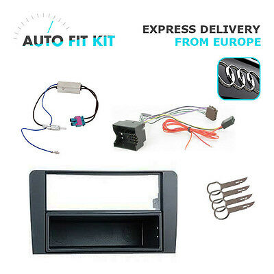 Audi A3 2004 - 2012 1 Din Single DIN Fascia Radio Stereo Replacement Kit Install