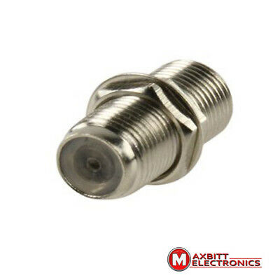 F Type Connector Coupler for Joining Satellite Virgin Cables with Nut