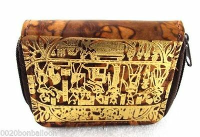 Egyptian pharaoh Hand Made 100% Genuine Leather Coin Purse wallet hand craft new