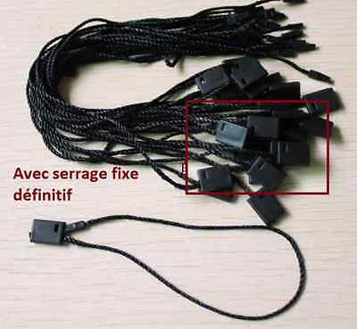 Attaches cordon manuelles noires