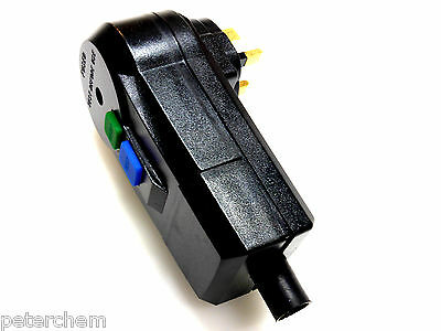 RCD plug 13A circuit power breaker 30mA safety trip heavy duty re-wireable new