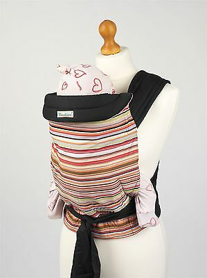 Palm & Pond Mei Tai Baby Sling Reversible Carrier - Coloured Stripes Design