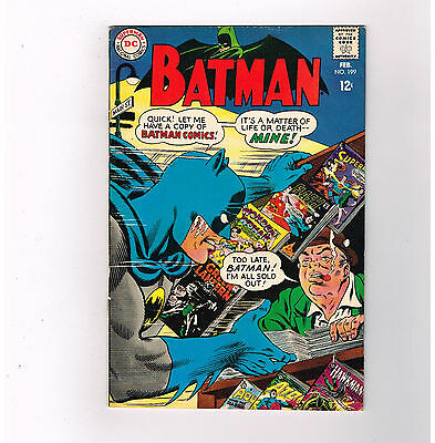 "BATMAN #199 Grade 6.5 Silver Age DC find! ""The Peril of the Poison Rings""!!"