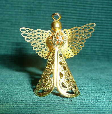 1/12 scale Dollhouse Miniature Christmas Handcrafted Angel Tree Topper Ornament