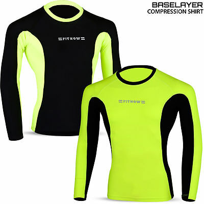 Mens Compression Base Layer Thermal Armour Top Full Sleeve Sports Gym Shirts