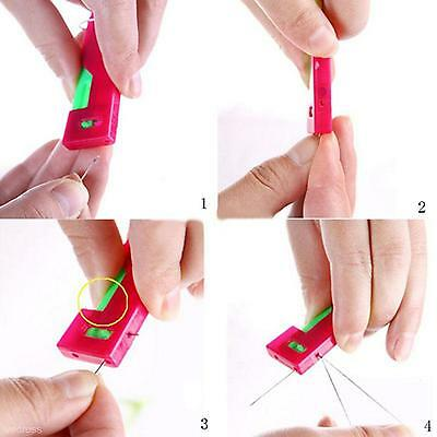 5pcs Portable Home Automatic Sewing Needle Threading Guide Device Threader Tool