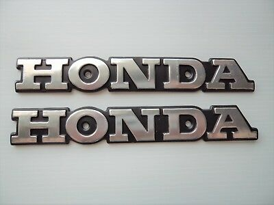 Honda Emblem Badge Super Sport CB CB550 CB650 CB750 Tank Decal Badges SILVER