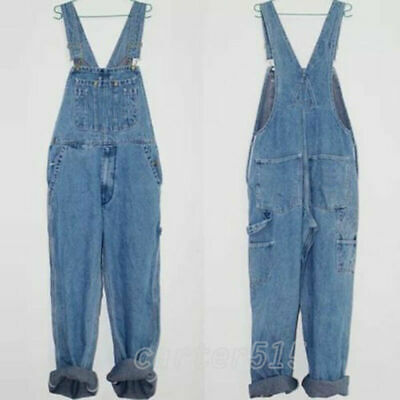 34b11dc2fb2 NEW Men s Stylish Loose Casual Jeans Dungarees Denim Suspender Trousers  Overalls