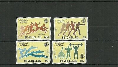 Seychelles-Sg592-595-Olympic Games -Mnh