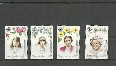 Seychelles-Sg852-855-95Th Birthday Of Queen Mother-Mnh