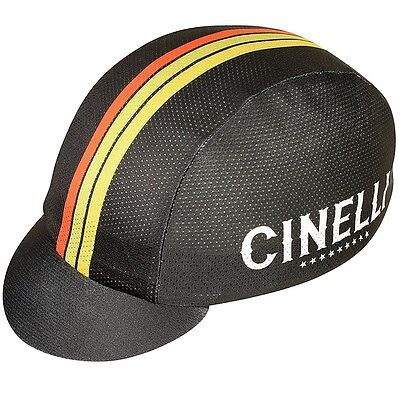 New Pace Sportswear Coolmax Cinelli Stars Bicycle Cycling Bike Cap Black
