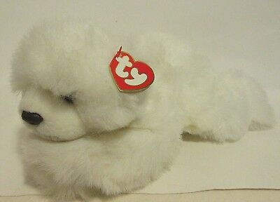 "1997 Ty Classic 12"" White Baby Paws Bear Plush"