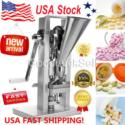 Manual Type Single Punch Tablet Press Pill Making Machine Maker TDP-0 New FAST