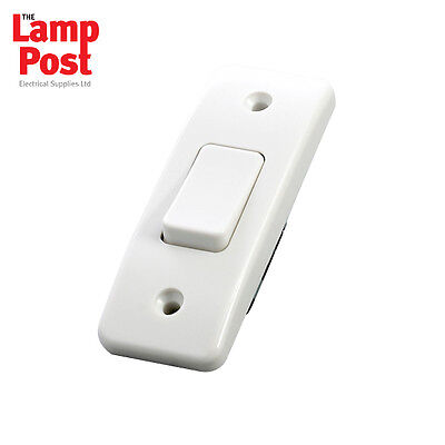 MK K4841WHI Logic Plus 10amp 1 Gang SP 2 Way Architrave Light Switch