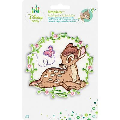 Disney Iron on Patches Bambi with Butterfly by Simplicity 1936110001