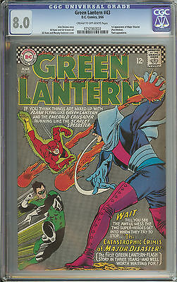 Green Lantern #43 Cgc 8.0 Cr/ow Pages  // 1St Appearance Of Major Disaster