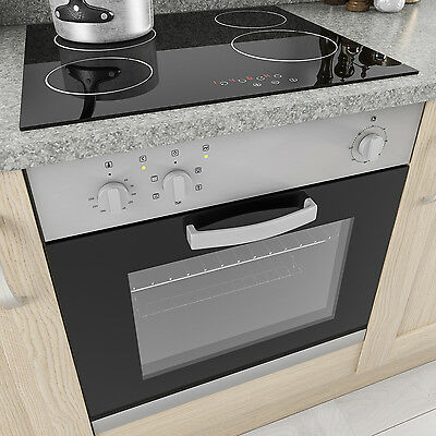 MyAppliances REF50289 Electric Fan Oven & Touch Control Black Ceramic Hob Pack