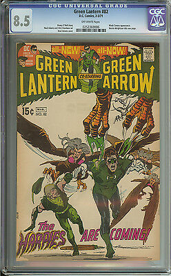 Green Lantern #82 Cgc 8.5 Ow Pages  // Neal Adams Cover