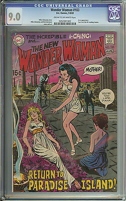 Wonder Woman #183 Cgc 9.0 Cr/ow Pages // Mike Sekowsky & Dick Giordano Cover