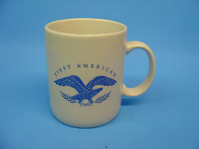 RARE First American Ceramic White Coffee Cup-HEAVEY