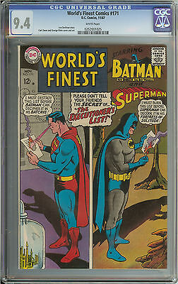 World's Finest #171 Cgc 9.4 White Pages // Curt Swan & George Klein Cover/art