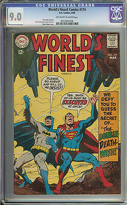 World's Finest #174 Cgc 9.0 Ow/wh Pages // Neal Adams Cover