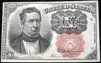 Fifth Issue Fractional 10 Cent Currency Note Fr 1266 Short Key - AU+ - pa122