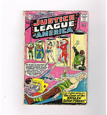 BRAVE & THE BOLD #30  Third Justice League appearance! Silver Age DC find!