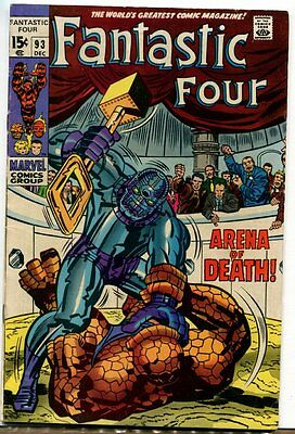 Fantastic Four #93 B ~ ''At the Mercy of Torgo'' ~ 1969 (F+) WH