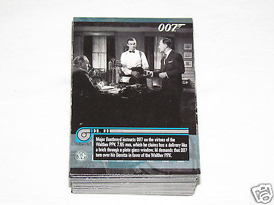 2011 JAMES BOND MISSION LOGS Trading Card Set #1-66 Movie Cards 007 Rittenhouse