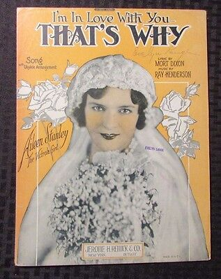 1926  Vintage Sheet Music I'm In Love With You THAT'S WHY 6pgs VG Aileen Stanley