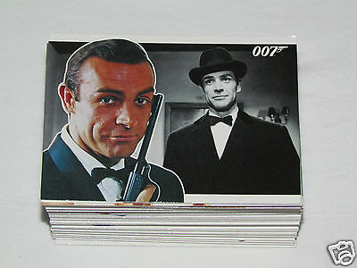 2010 JAMES BOND HEROES & VILLAINS Trading Card Set #1-81 Movie 007 Rittenhouse