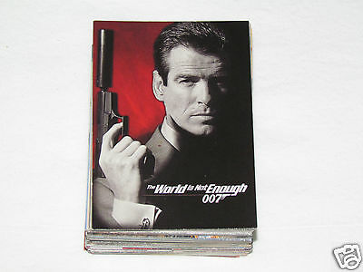 1999 JAMES BOND THE WORLD IS NOT ENOUGH Complete Trading Card Set #1-90 Inkworks