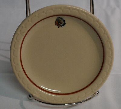 "Syracuse China Econo Rim Native American Indian 5 1/2"" Diameter"