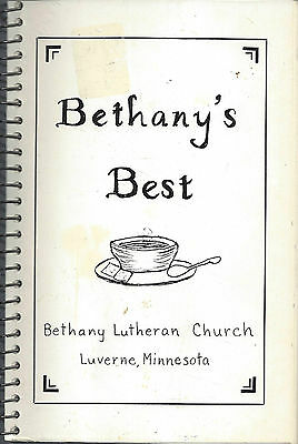 *LUVERNE MN c1980 VINTAGE BETHANY'S BEST COOK BOOK *LUTHERAN CHURCH *ETHNIC RARE