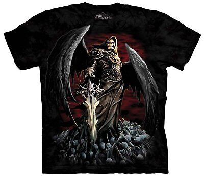 The Mountain Death Wish Grim Reaper Wings Skulls And Sword T Tee Shirt S-5Xl