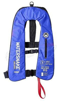 Watersnake Deluxe Auto/Manual Inflatable Life Jacket (Blue) BRAND NEW at Otto's