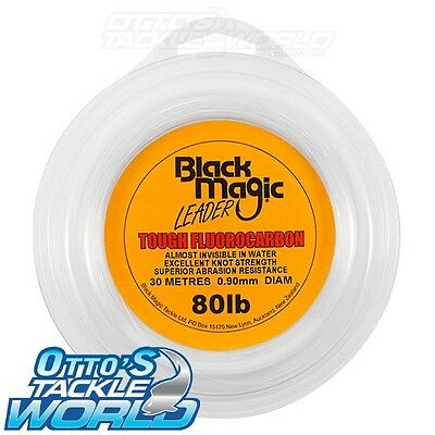 Black Magic Tough Fluorocarbon Leader (80 lb.) BRAND NEW at Otto's Tackle World
