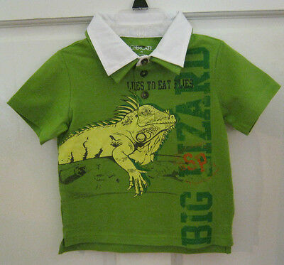 New W/t Cherokee  Boys Green Polo Shirt Sz 6 M