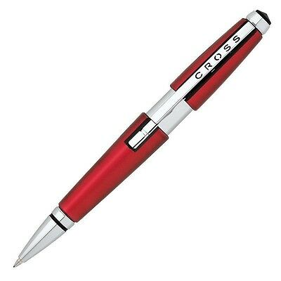 CROSS EDGE RUBY RED ROLLERBALL PEN NEW GRADUATION FATHERS DAY DOCTOR GIFT