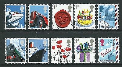 Great Britain 2010 Smilers Set Of 10 Ex. Miniature Sheet Fine Used