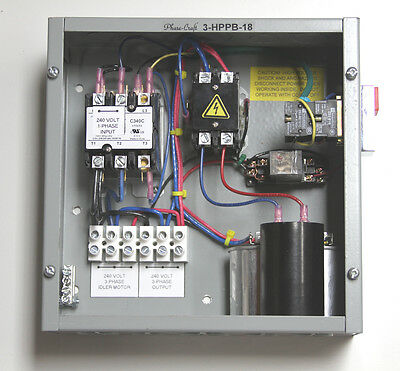 3 HP ROTARY PHASE CONVERTER CONTROL PANEL make your own true 3-phase power!