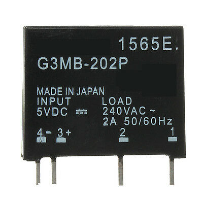 1pc G3MB-202P DC-AC PCB SSR In 5VDC Out 240V AC 2A Solid State Relay CRYDOM NEW
